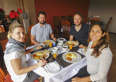 Guests enjoying breakfast