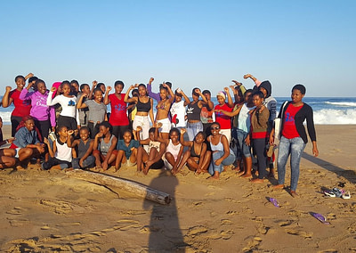 Soul City Institute enjoying the beach