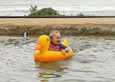 Baby in the Sugar Beach Resort pool